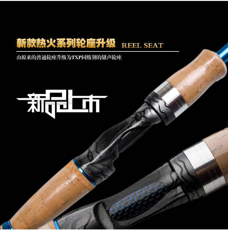 KAWA HOT FIRE SERIES LURE , M/ ML /MH TONALITY, Spinning and Casting rod, 2.1M/1.98M, TWO COLORS(BLUE/RED), FREE SHIPPING