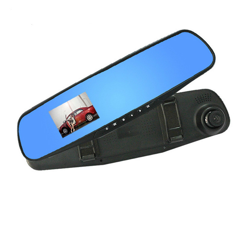 Light-Mirror Camera Car-Driving-Recorder Dash-Cam Video Blue New 1080p DVR Single-Lens