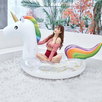 Water Products Protection PVC Swimming Pool Float Floating Line Adult Inflatable Sequins Unicorn Mount