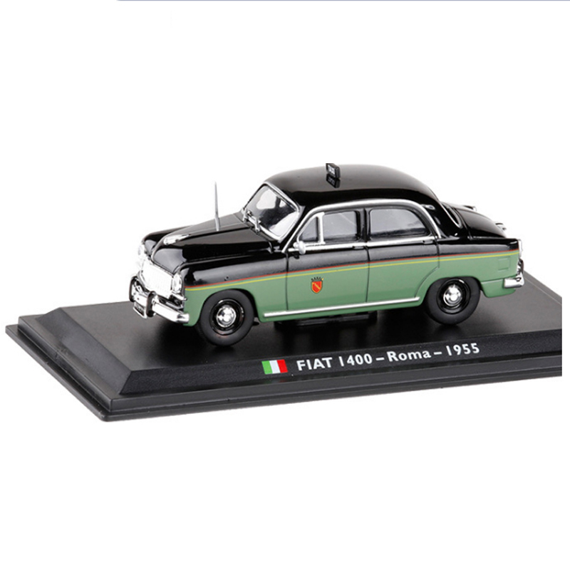 <font><b>1</b></font>:<font><b>43</b></font> <font><b>Fiat</b></font> 1400 Roma 1955 TAXI Diecast Italian <font><b>Car</b></font> <font><b>Model</b></font> Collection Decoration Cab Classic with Original Box Kid Toy Gift Decorae image