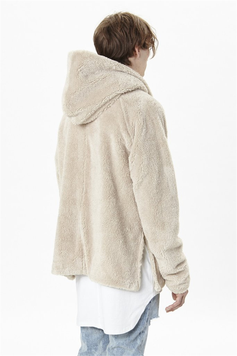 Sherpa Hoodie Streetwear Cool Kanye West Clothing Fashion Hip Hop Skateboard Urban Clothes Men Hoodies Hooded Cardigan