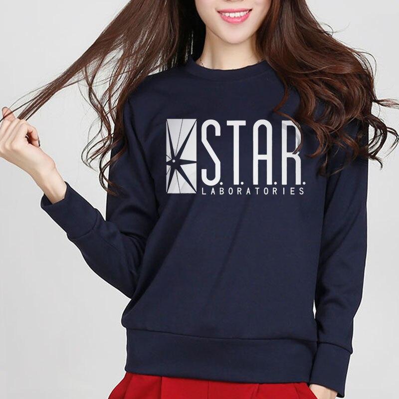 2019 New Fashion Autumn Funny American Drama The Flash Sweatshirt Star Laboratories Women Comic Books TV Star Labs Slim Hoodies