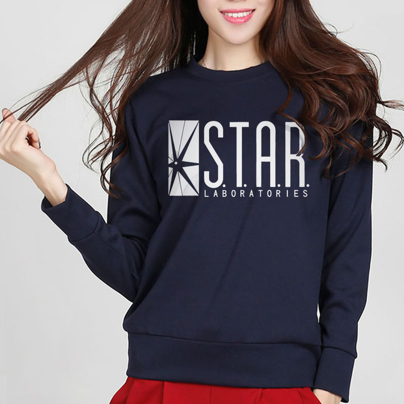 2019 New Fashion Autumn Funny American Drama The Flash Sweatshirt Star Laboratories Women Comic Books TV Star Labs Slim Hoodies