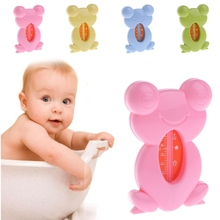 Cute Cartoon Frog Bathtub Bath Safe Water Thermometer Tester For Baby Children baby s cute tiger style bathtub bathing water thermometer orange yellow black