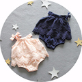 0 ~ 24 м Baby Boy Девушка Одежда Sweet Girls Комбинезон Принцесса Малышей Шнурка & бадья День Рождения Одежда детская Ползунки новорожденный