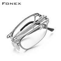 Hohe Qualität Folding Lesebrille Männer Frauen Faltbare Presbyopie Leser Hyperopie Dioptrien Brillen Schraubenlose Brillen