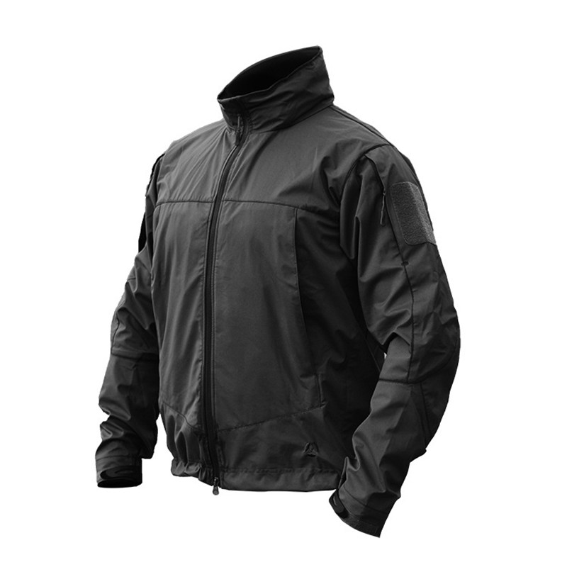Outdoor Camping Climbing Waterproof Windproof Fleece Warm Hooded Coat Windbreaker Men Soft Shell Lightweight Tactical Jacket Top