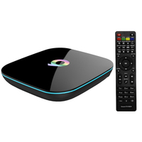 Clearance Q box Amlogic S905 Quad Core Android TV Box 2GB 16GB Wifi Bluetooth 4K Media Player Miracast DLNA Airplay Smart TV Box