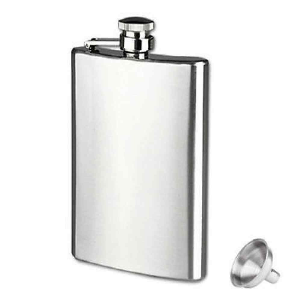 ポータブル Wisky ボトルステンレス鋼のヒップフラスコ 8 オンスロシアワインボックスポケット箸置きでアルコールボトルドロップ無料