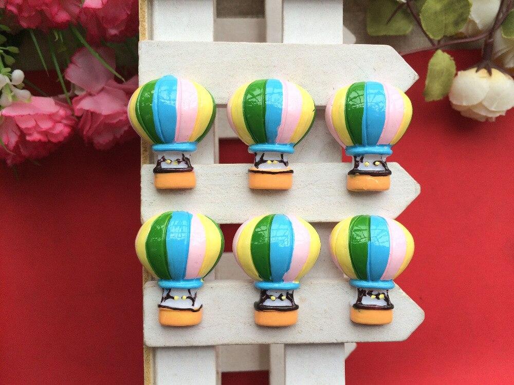 Бесплатная доставка! Плоской задней смолы горячий воздух воздушный шар Kawaii Кабошоны для мобильного телефона DIY Hat Украшение для волос Mix 10 шт./лот