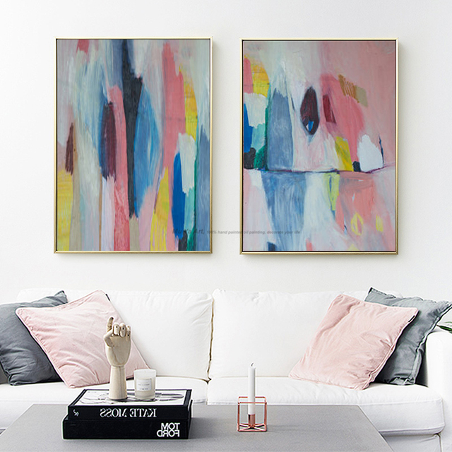 Handmade acrylic paints cheap modern paintings wall pictures for