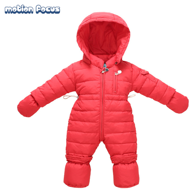 65c046f49 High Quality Winter Baby Rompers Thick Down 0 9M Newborn Boys ...
