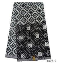 6 Yard Batik African Fabric 2019 Wax Floral Print Ankara Africa 100% Cotton For Women Dress Sewing 1403-1