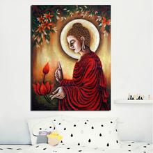 Art Of Lord Buddha HD Canvas Painting Prints Living Room Home Decoration Modern Wall Oil Salon Pictures Framework