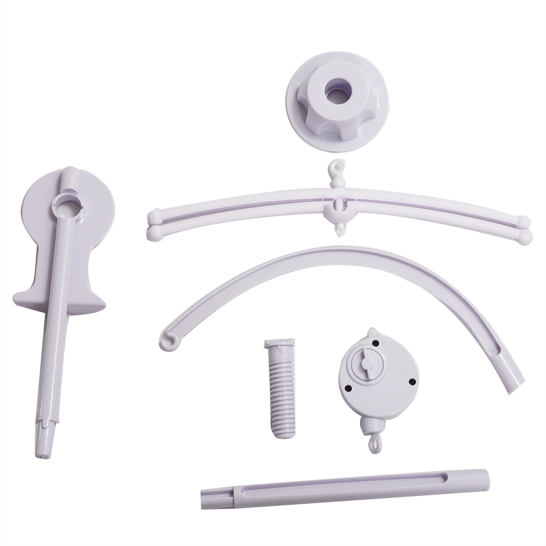 Baby bed holder - Abwe Best Sale White Baby Crib Mobile Bed Bell Toy Holder Arm Bracket Wind