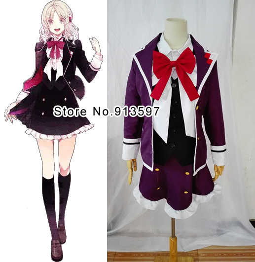 Anime Diabolik Lovers Komori Yui Cosplay Costume