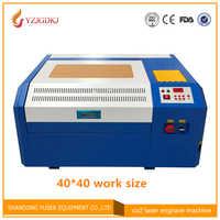 Il trasporto libero 50 w macchina di taglio laser 4040 co2 incisione laser macchina fai da te mini taglio compensato Coreldraw supporto 40*40 centimetri