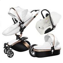 PU High View Baby Cart 360 Degree Rotating Newborn Baby Carr