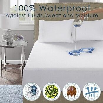 LFH 140X200 см Экологичные 100% водонепроницаемые гладкие Наматрасники из полиэстера кровать мягкий матрас крышка Антибактериальная кровать