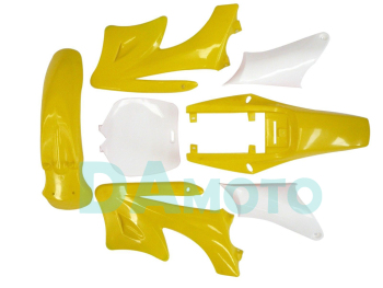 2-stroke for Apollo Orion Fairing plastic body kits fit pit dirt bike 49cc-100cc - Yellow