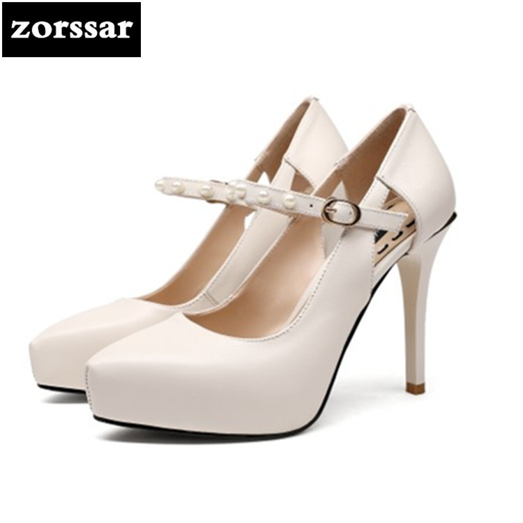 {Zorssar} high quality Women Pointed Toe High Heels 11CM Sexy Thin Heels platform Pumps Womens Wedding Shoes Woman Zapatos Mujer zapatos mujer pointed toe thin high heels sandals mixed color single shoes woman stiletto dress women pumps 2018