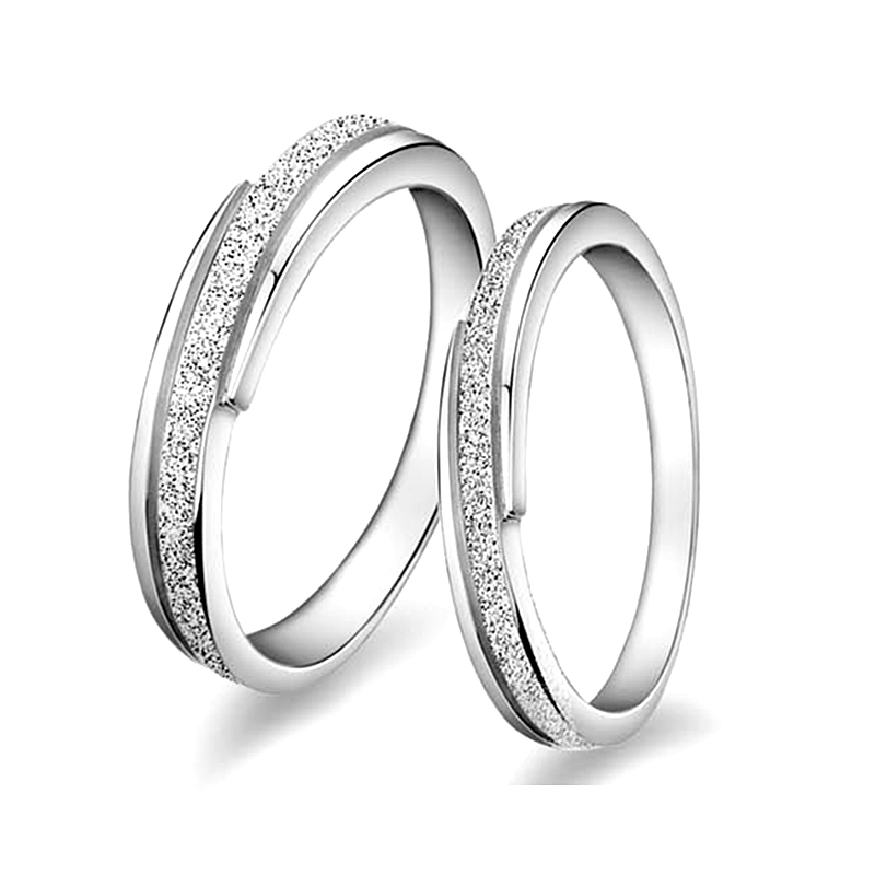 Special Couple Polish Meteor Shower 925 sterling silver 925-sterling-silver wedding & engagement Lovers ring jewelry & more