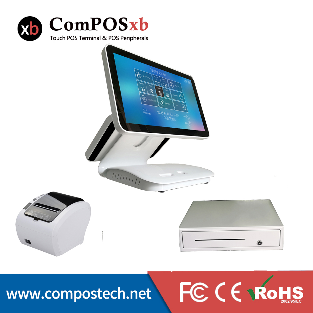 Cheap <font><b>Cashier</b></font> <font><b>Machine</b></font> cash Register <font><b>Machine</b></font> 15.6 Inch Capacitive Touch All In One Pc With 80 mm Printer/cash drawer image