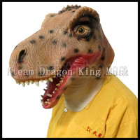 Free Shipping Eco friendly Latex realistic latex Dinosaur Mask Triceratops Animal Full Head Party Mask Horror Animal King Mask