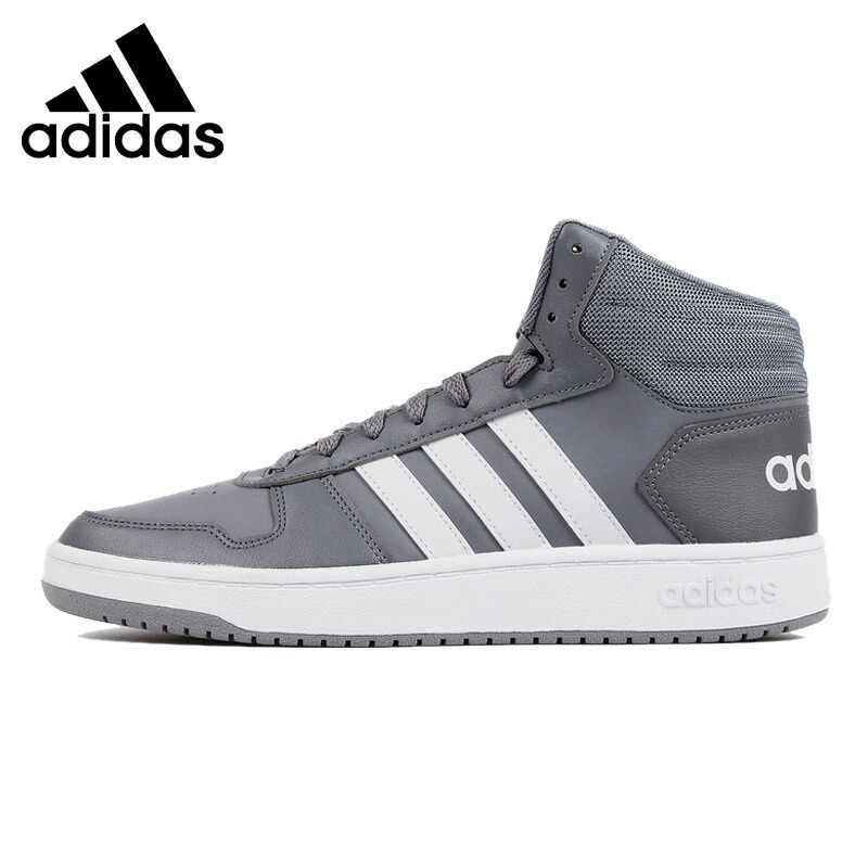 Freizeit Herren Men Schuhe Mid Hoops Adidas Turnschuhe 2.0