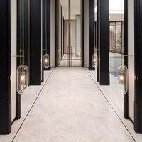 Nordic дизайнер гостиная прикроватная тумбочка для спальни коридор виллы Club Hotel Модель стекло настенный светильник
