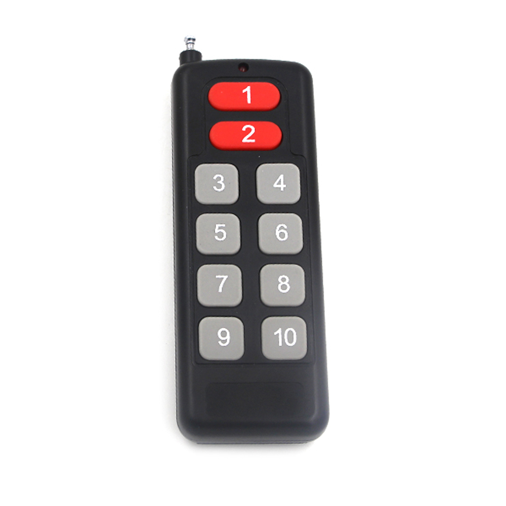 50 pcs 10 CH 10 clé RF télécommande sans fil émetteur ON OFF avec numéro de suivi 315/433. 92 MHZ