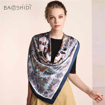 [BAOSHIDI]2016 Autumn New Arrival,16m/m Women 100%Silk scarf Luxury Brand,Square Pure Scarves,Traditional Chinese element scarfs - DISCOUNT ITEM  42% OFF Apparel Accessories