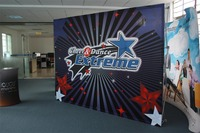 Exhibition Stand /3X4 fabric POP up 230X300CM Display Exhibition 8*10ft Banner Stand for Tradeshow