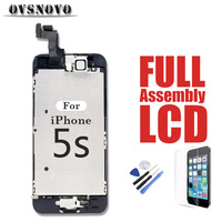 Full Display Replacement Assembly for iPhone 5s LCD Touch Screen Digitizer Parts Panel Front Camera + Home Button + Glass + Tool