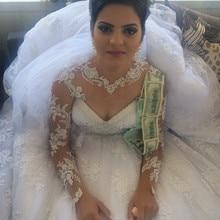 kejiadian Long Sleeves Wedding Dresses Ball Gown