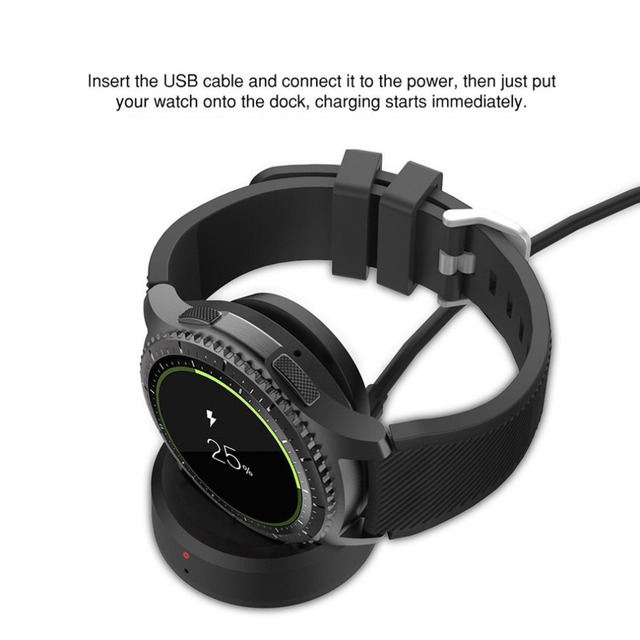 ONLENY For Samsung Gear S3 Portable Wireless Charging Dock Magnetic Cradle Charger
