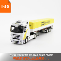 Alloy Toy Model Gift 1:50 Scale MERCEDES BENZ Freight Grain Transport Truck Vehicles with Dunlop Tire For Collection Decoration
