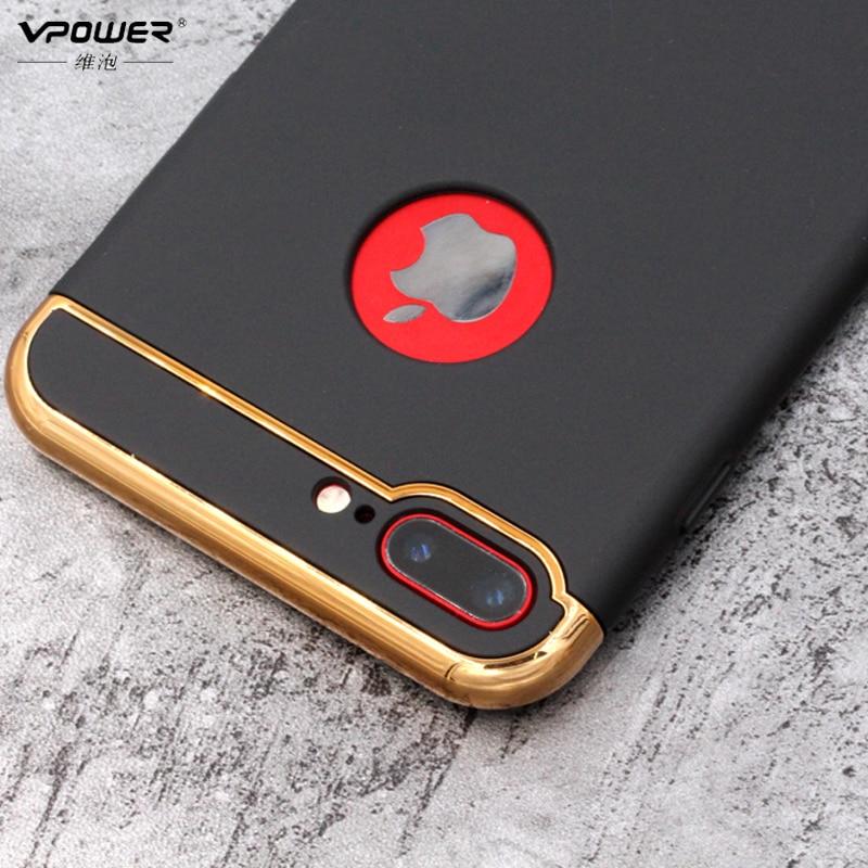 Vpower-pläteringsfodral för iphone 7/7 plus iphone 8-fodral lyxig - Reservdelar och tillbehör för mobiltelefoner - Foto 2