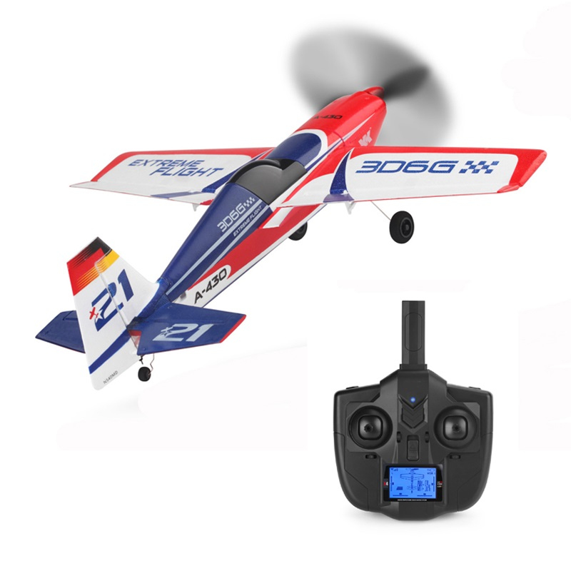2018 New Sky Stunt Electric RC Plane Toy 2.4G Brushless Remote Control Unmanned Aircraft 3D6G System Like Real Aircraft Model