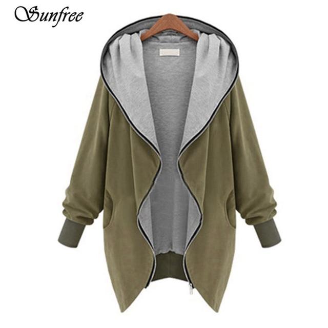 Sunfree 2016 Hot Sale Fashion Womens Zipper Hoodie Kapuzen Jacket Coat Windbreaker Brand New High Quality Nov 28