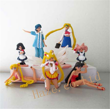 Anime Sailor Moon Mercury Mars Chibi Moon Saturn Cartoon Figure Toy 7pcs/set