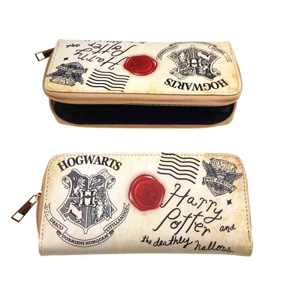 все цены на Harry Potter LOGO Clutch Wallets carteira Big Capacity Card Holder Zipper Coin Pocket Leather Purse Gift Young Men Women Wallet
