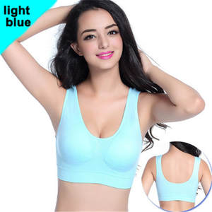 10 Color Plus size Professional Absorb Sweat Top Athletic Running Women Sports Bra Gym Fitness Seamless Padded Vest Tanks