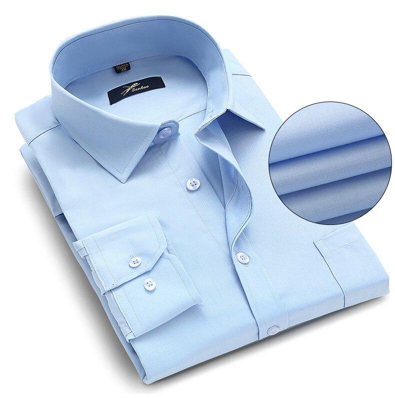 a520a7eeea Plus Size 5XL 6XL 7XL 8XL 9XL 10XL Homens Vestem Camisas Manga Comprida  Sólido Branco Cor Homem de Negócios Formal de Trabalho camisas Masculino