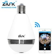 ZILNK New Mini Lamp Bulb Light WiFi Camera Fisheye 1080P HD Wireless IP Camera 360 Degree Panorama Lens Support 128GB TF Card