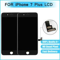 Para iphone 7 mais Tela de Toque LCD de Substituição Assembleia Digitador de Vidro preto e branco a cores frete grátis