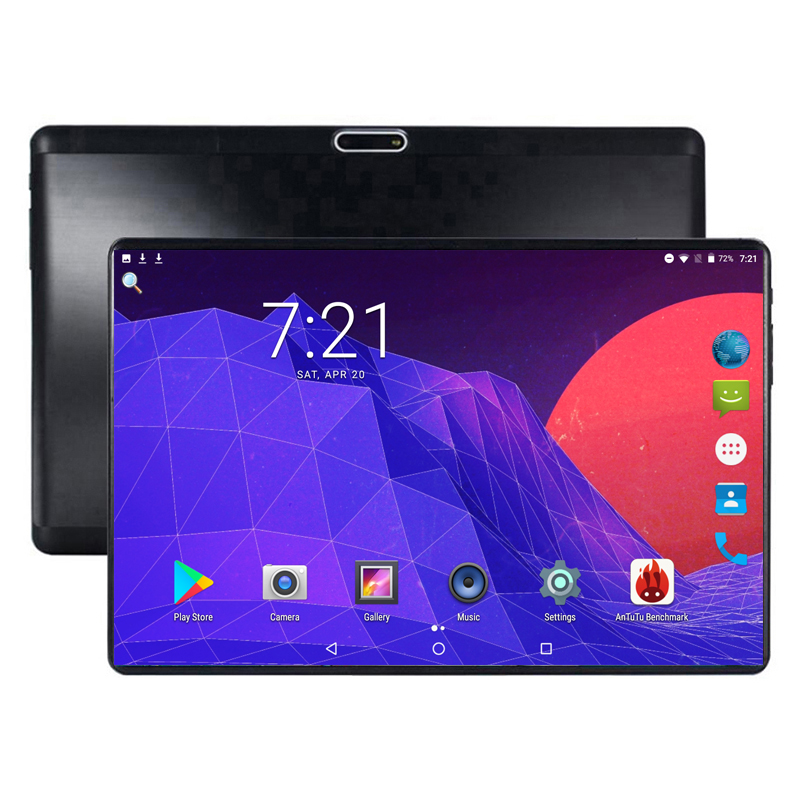 2019 New 10 Inch Tablet Android 8.0 Octa Core 6GB RAM 64GB ROM 8 Cores IPS 1280*800 2.5D Glass Screen GPS Tablets 10.1 Gifts