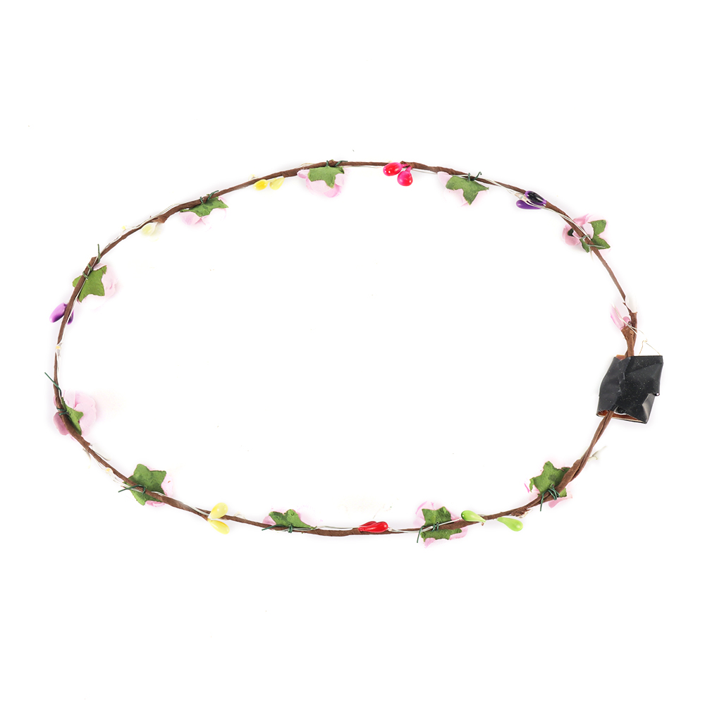 Garlands Crown Wreath Head-wear LED Light Up Hair Accessories Wedding Party QY