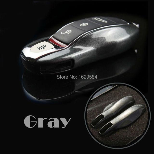Брелок Дистанционного Ключа Дело Чехол для Po rsche boxster cayman Cayenne 911 Серый