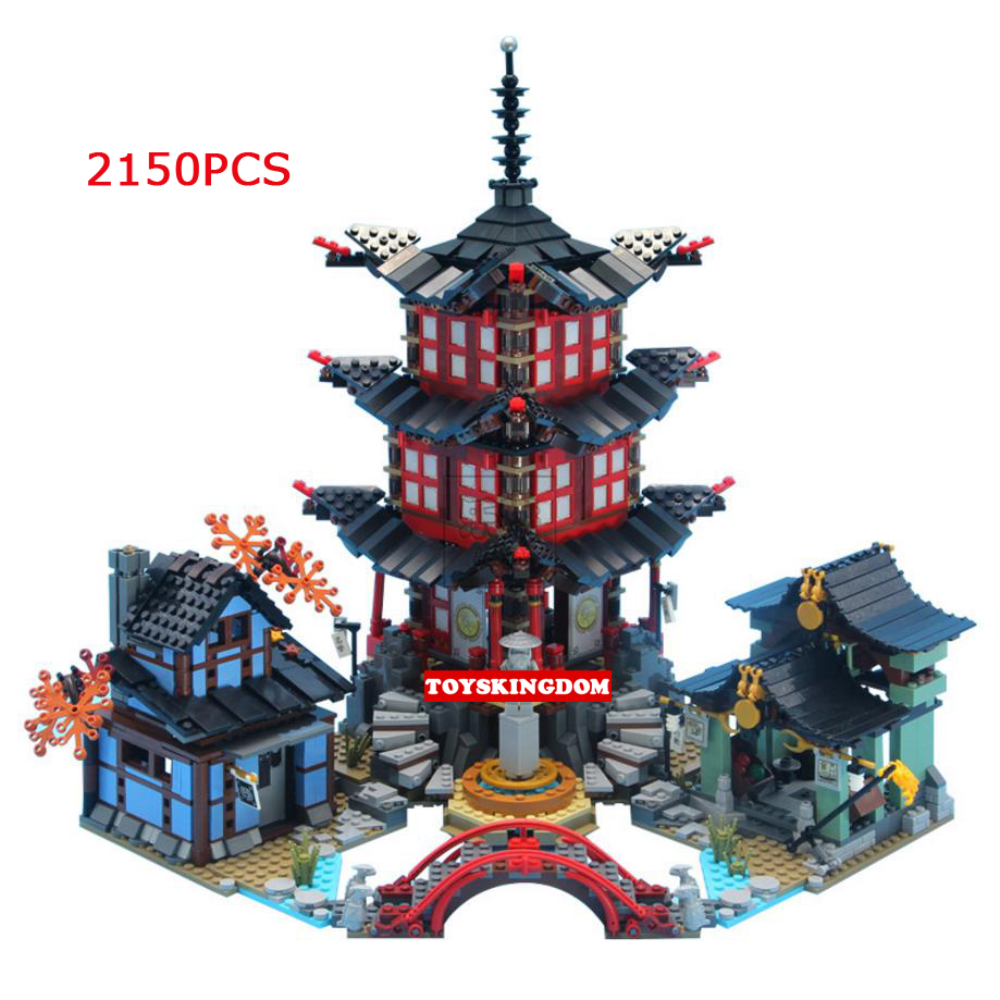 Горячая ниндзя город храм airjitzu Go Moc Building Block Кай Зейн Jay Wu Cole nya LLOYD цифры Scene кирпичи 70751 игрушки для подарков